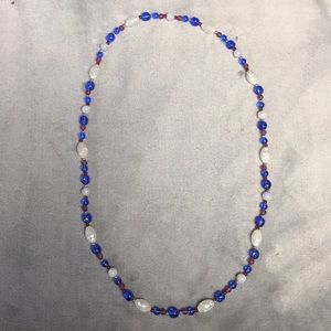 Jewelry - 🔴⚪️🔵 Beaded Necklace